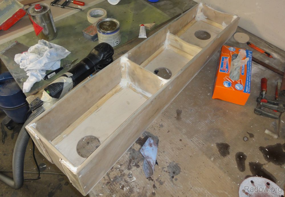 Z-Achse - Gussmodell spachteln (Radow © 2012-07-16)