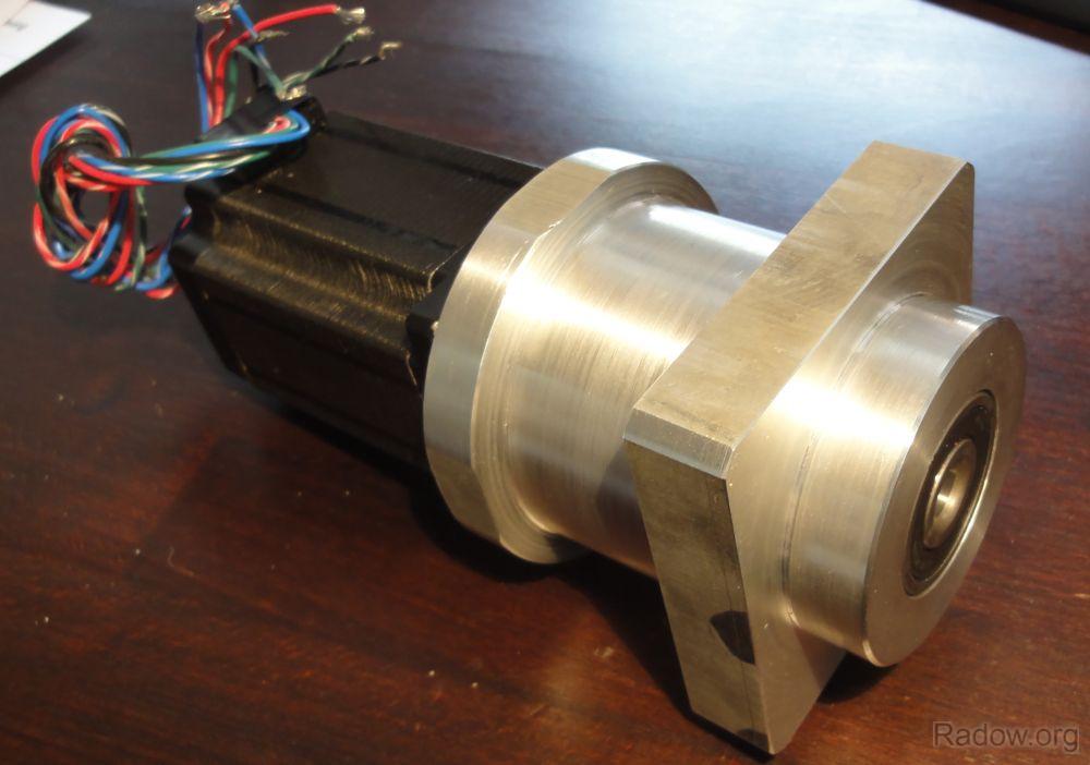 Gehäuse für Schrittmotor mit integriertem Festlager und Kupplung (Radow © )