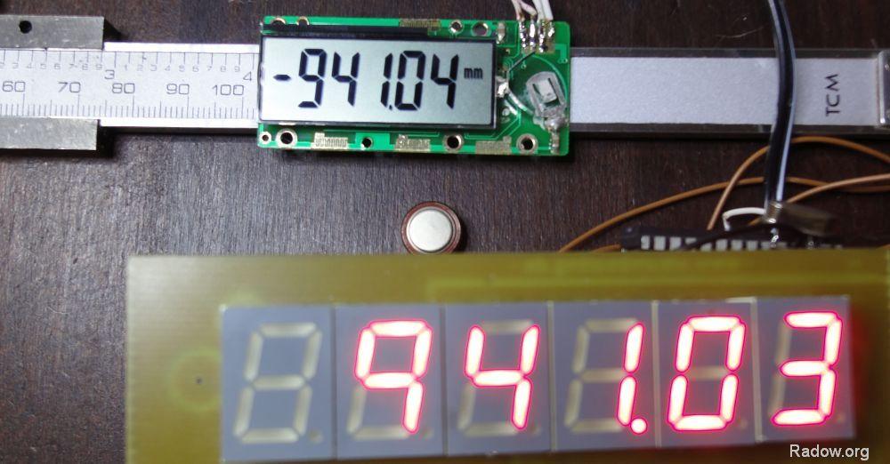 LED-Anzeige und Auswerteelektronik auf einer Platine<br><b> ! ! Aktuell nicht verfügbar ! ! </b>