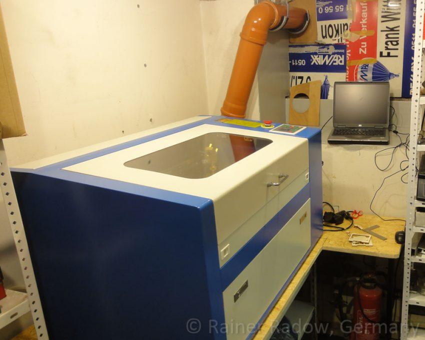 Shenhui G350 CO2 Laser im Kofferraum