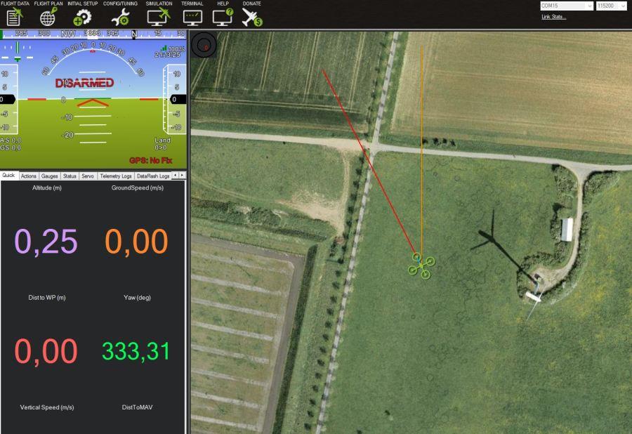 Live Position und Telemetriedaten mit Google Satelitenbild
