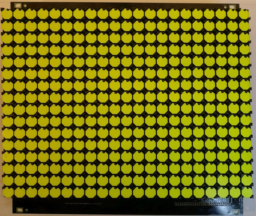 BROSE Flip-Dot Vorderseite - 10 mm - 8-Eck - gelb - 21 x 16 Dots