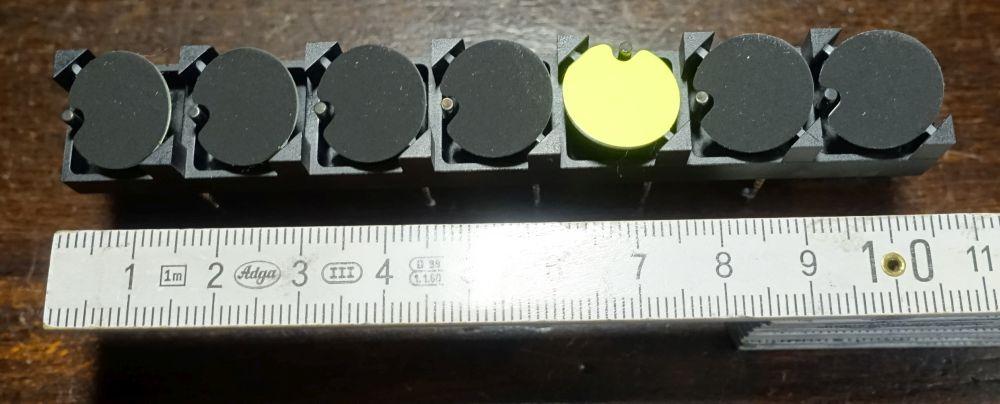 15 mm - rund - gelb - Einzelstreifen