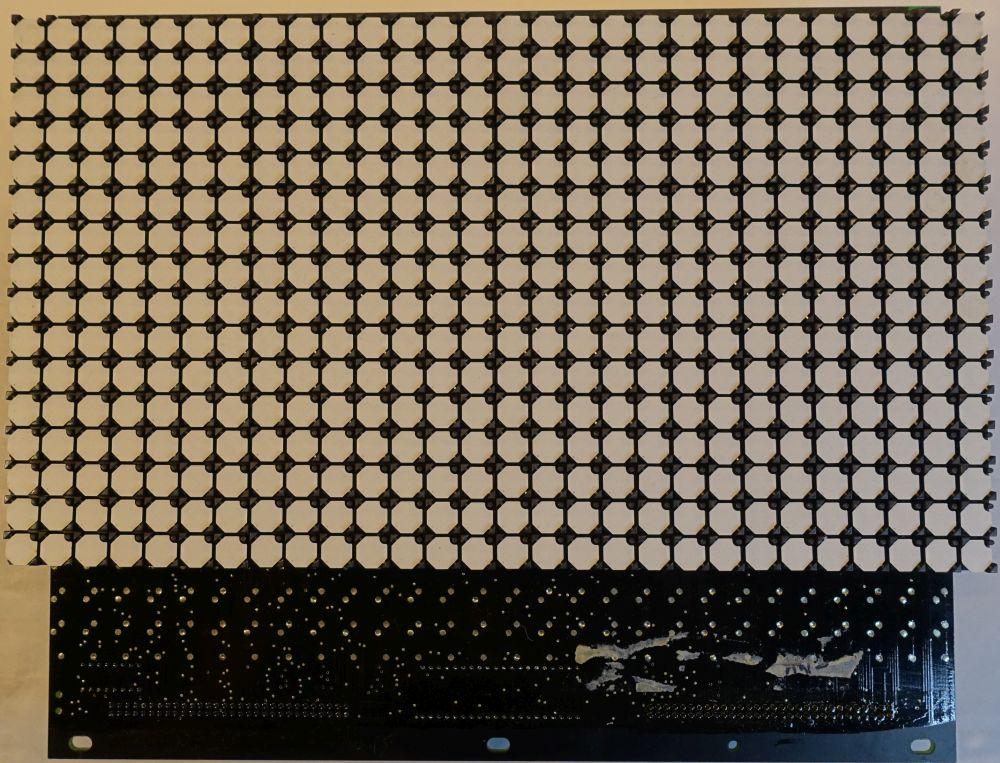 BROSE Flip-Dot Vorderseite - 10 mm - 8-Eck - weiß - 28 x 16 Dots
