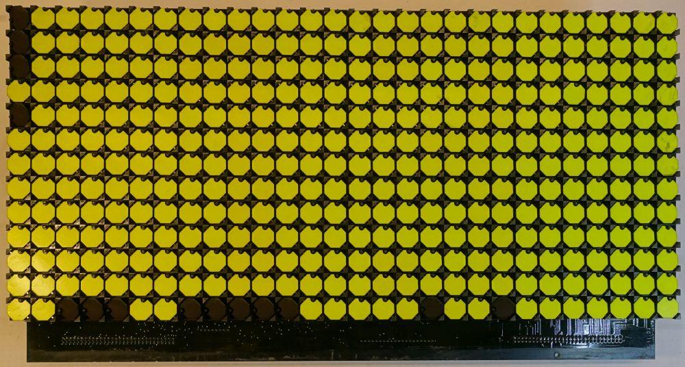 BROSE Flip-Dot Vorderseite - 15 mm - 8-Eck - gelb - 28 x 13 Dots