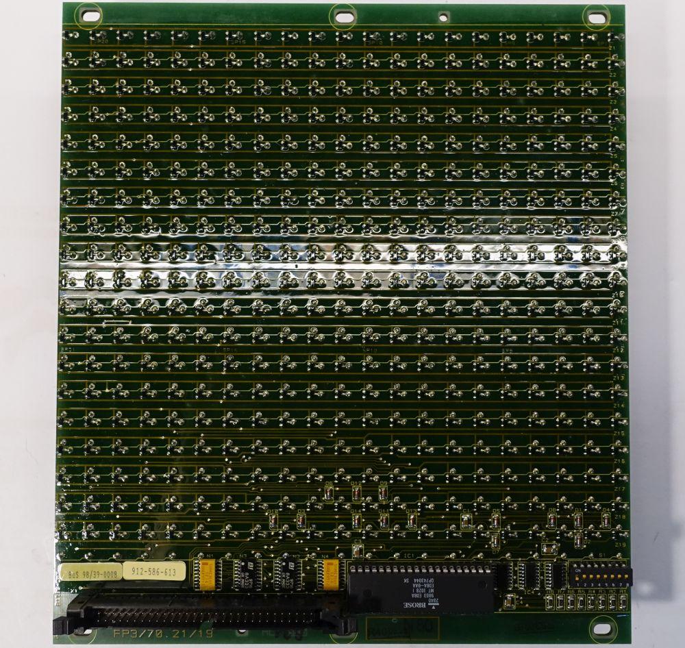 BROSE Flip-Dot Rückseite - rund 10 mm - gelb - 21 x 19 Dots