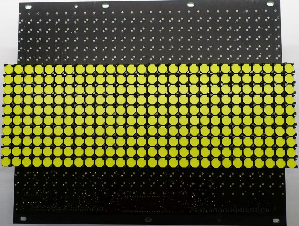 BROSE Flip-Dot Vorderseite - 10 mm - 8-Eck - gelb - 28 x 10 Dots