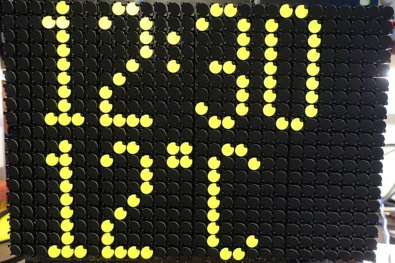 4x9 Font für Uhren. Einzeilig ab 21x9 Dot großen Modulen darstellbar,<br>also auch auf KRUEGER 24x16 Modulen