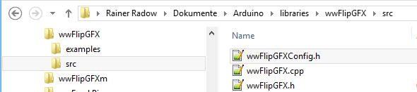 Speicherort der wwFlipGFXConfig.h auf meinem Windows 8 System
