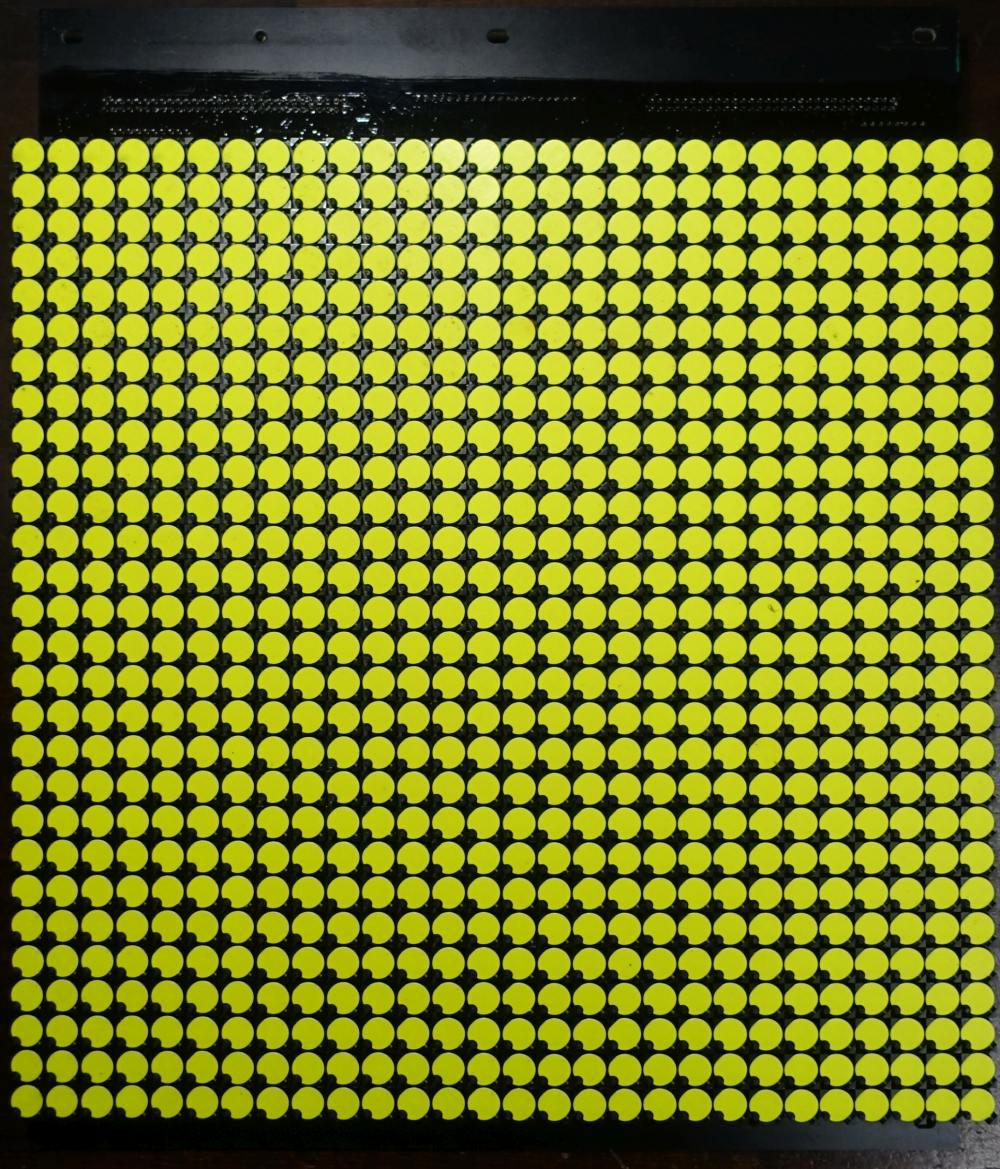 BROSE Flip-Dot Vorderseite - rund 10 mm - gelb - 28 x 28 Dots