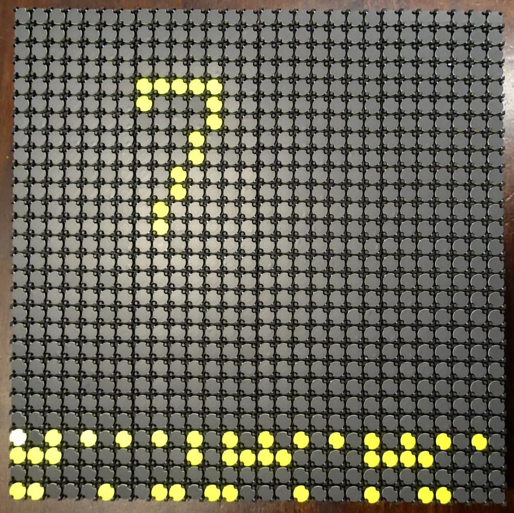Lawo-Luminator Vorderseite 10 mm - rund - gelb - 28 x 28 Dots