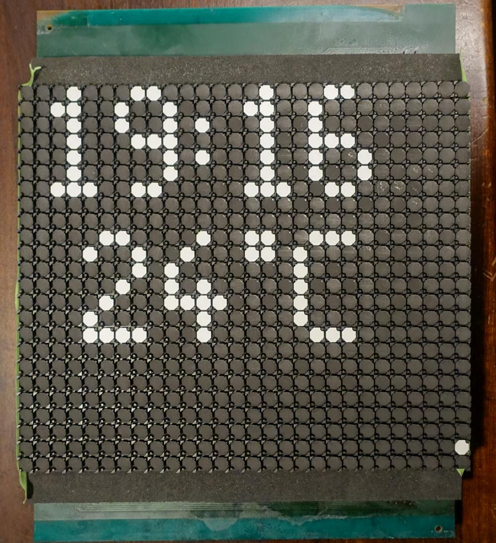Lawo-Luminator Vorderseite 10 mm - achteckig - weiß - 28 x 28 Dots