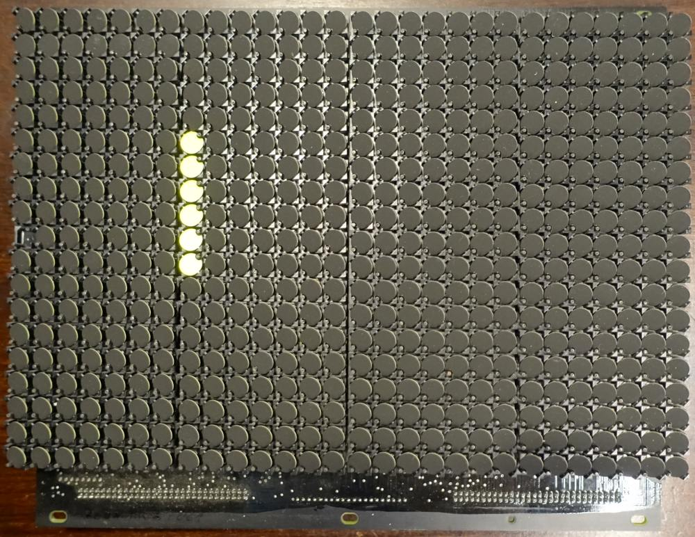 BROSE Flip-Dot Rückseite - rund 15 mm - gelb - 21 x 7 Dots