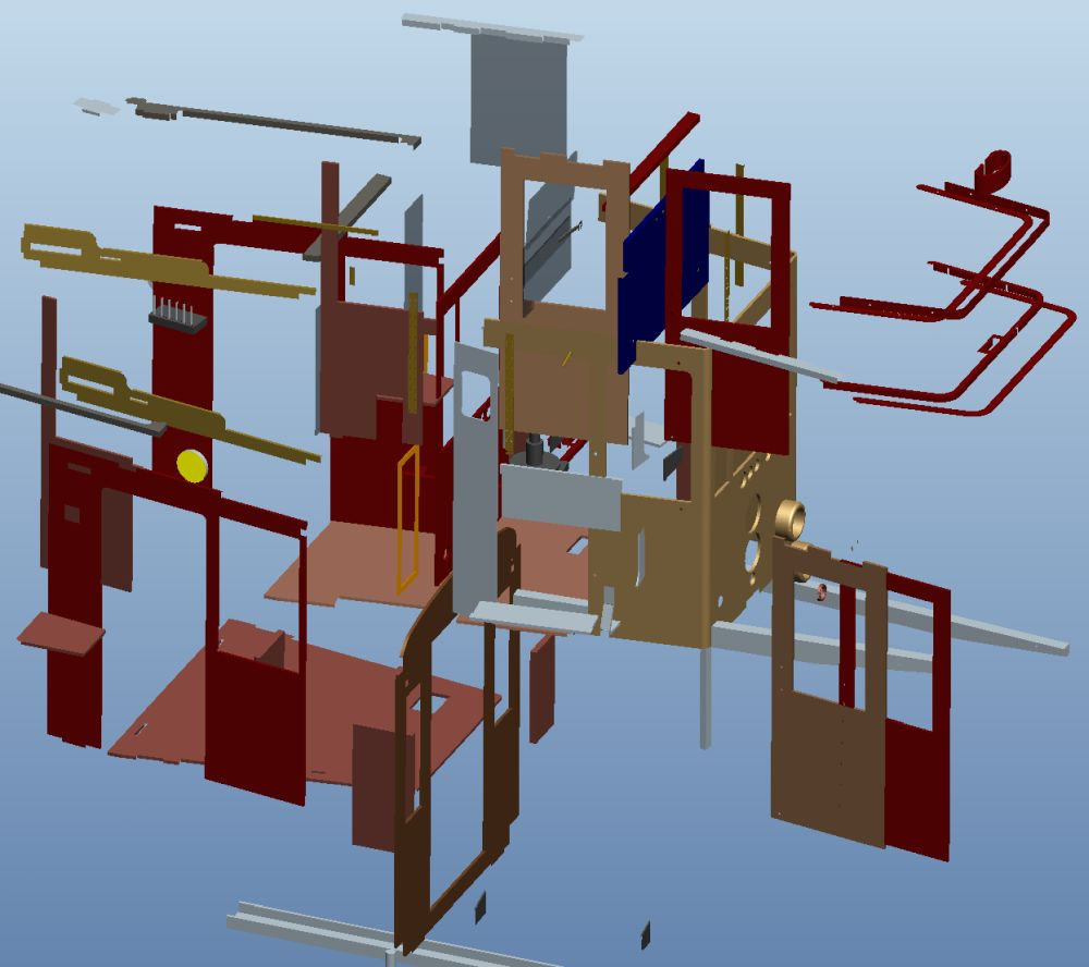 The exploded view shows how many parts I have already installed. 2020-10-31