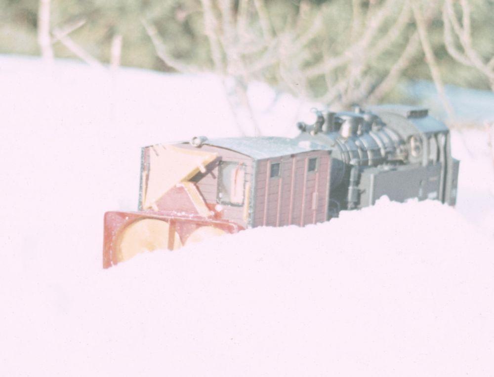Eigenbau LGB Schneefräse 1983