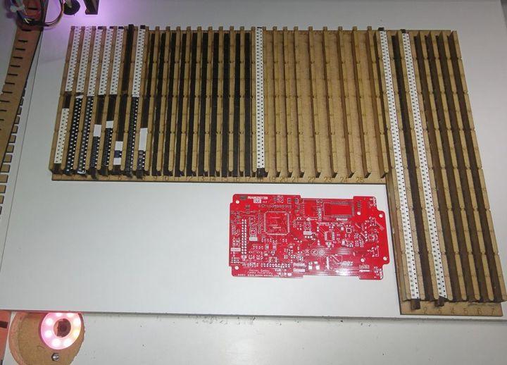 Bauteil Trays aus MDF gelasert