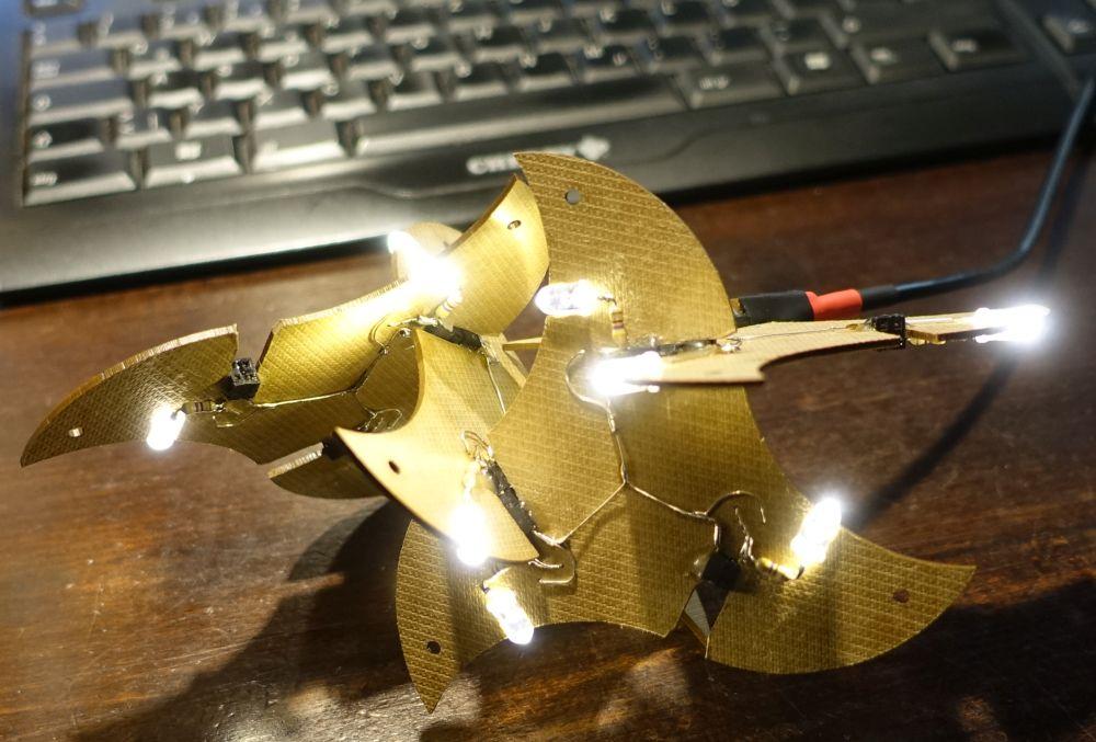 Teamsculpturen Beleuchtungsprototyp